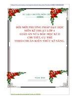 ĐỔI MỚI PHƯƠNG PHÁP DẠY HỌC  MÔN KĨ THUẬT LỚP 4   GIÁO ÁN NỬA ĐẦU HỌC KÌ II  CHI TIẾT, CỤ THỂ  THEO CHUẨN KIẾN THỨC KĨ NĂNG.