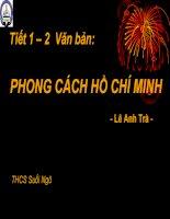 Giáo án bồi dưỡng thao giảng, thi giáo viên ngữ văn 9 bài Phong cách Hồ Chí Minh (10)