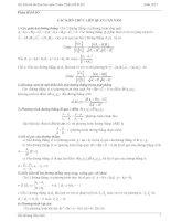 Hàm số ôn thi THPT quốc gia môn toán