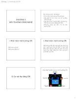 Slide môn quản lý công nghệ: Chương 3: Môi trường công nghệ