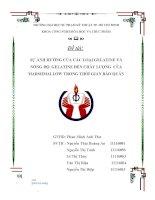 Đề tài SỰ ẢNH HƯỞNG CỦA CÁC LOẠI GELATINE VÀ NỒNG ĐỘ  GELATINE ĐẾN CHẤT LƯỢNG  CỦA MARSHMALLOW TRONG THỜI GIAN BẢO QUẢN