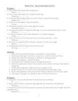 tổng hợp bài tập viết lại câu