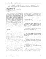 ỨNG XỬ CỦA CỌC BÊ TÔNG CỐT THÉP TRONG KẾT CẤU KÈ  BẢO VỆ BỜ SÔNG KHU VỰC QUẬN 2 THÀNH PHỐ HỒ CHÍ MINH