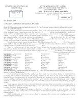 Đề thi thử trung học phổ thông quốc gia môn Tiếng Anh 2015 có đáp án
