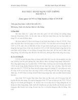 BÀI THỰC HÀNH MẠNG VIỄN THÔNG BÀI SỐ 1-2 Làm quen với NS và Thực hành cơ bản về TCPIP
