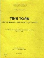 Tính toán sàn phẳng bê tông ứng lực trước - Nguyễn Hoàng Thu Thuỷ, Phan Quang Minh (GVHD)