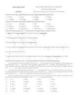 Bộ đề thi thử THPT quốc giá môn Tiếng Anh Trường THPT Hồng Lĩnh Năm 2015 có đáp án