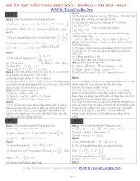 Bộ đề thi thử môn toán 11 học kì 1