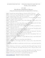 Phần kiến thức chung (Quản lý Nhà nước) ( Dùng cho thí sinh ôn tập thi tuyển vào Ngành BHXH Việt Nam