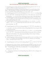 Bài tập về tọa độ trong không gian