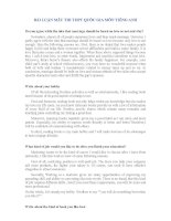 BÀI LUẬN MẪU THI THPT QUỐC GIA MÔN TIẾNG ANH (ngắn gọn, dễ học)