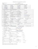 Tổng hợp đề thi HKII tiếng Anh lớp 8 (With key)