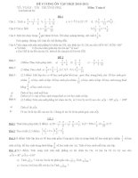 Đề cương ôn tập môn toán 6 Học Kỳ II