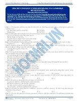 Bài 01. bài tập Công thức tổng quát và tính chất hóa học của Cacbonhidrat