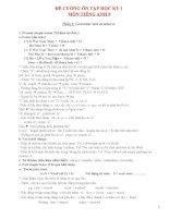 đề cương ôn thi HKI tiếng Anh lớp 8 (Ngữ pháp, bài tập)