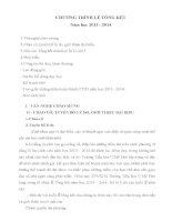 Kịch bản chương trình lễ tổng kết năm học 2014