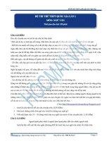 BỘ ĐỀ THI THỬ THPT QUỐC GIA MÔN VĂN (Đáp án và biểu điểm chi tiết)