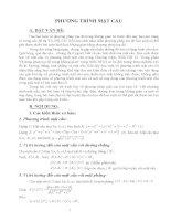 phương pháp giải các bài toán về viết phương trình mặt cầu, các bài toán về tiếp tuyến, tiếp diện, đường tròn trong không gian
