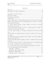 Báo cáo tổng hợp về tổ chức công tác kế toán tại Công ty Cổ phần Xây Lắp Vinaconex Xuân Mai