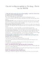 Câu hỏi và Đáp án nghiệp vụ Tín dụng - Ôn thi vào các NHTM