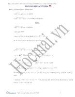 Phương trình và bất phương trình chứa tham số