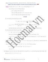 Đề và đáp án về sự tương giao của hàm đa thức