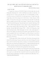 KẾT QUẢ ĐIỀU TRỊ U NGUYÊN BÀO VÕNG MẠC TRẺ EM TẠI BỆNH VIỆN K TỪ 6 2005 ĐẾN 6 2007.DOC