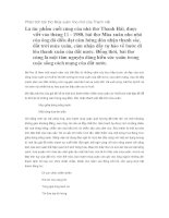Phân tích bài thơ Mùa xuân nho nhỏ của Thanh Hải