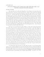 SỬ DỤNG SƠ ĐỒ TƯ DUY TRONG DẠY HỌC MÔN HÓA HỌC 9 TẠI TRƯỜNG THCS HUỲNH THÚC KHÁNG