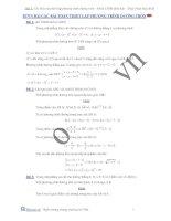 Các bài thiết lập phương trình đường tròn