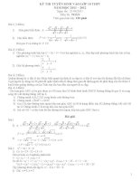 tuyển tập bộ đề thi vào lớp 10 môn toán