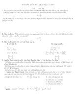 tóm tắt kiến thức vật lý lớp 9