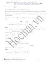 Đề và đáp án về tiếp tuyến hàm phân thức