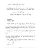 SKKN Văn 9:  GIÁO DỤC KỸ NĂNG SỐNG CHO HỌC SINH – TÍCH HỢP  TRONG MÔN NGỮ VĂN 9  BẰNG KỸ THUẬT DẠY HỌC CHIA NHÓM