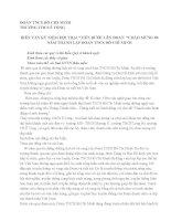 Bài phát biểu của HT- Bí thư chi bộ kỷ niệm ngày 26/3