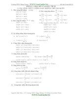 Bài tập giải tích 11 cơ bản và nâng cao