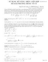 Sử dụng kĩ năng liên hợp để giải phương trình ngắn gọn