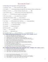 Luyện tập tiếng Anh lớp 8 bài 1 (With key)