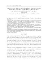 NGHIÊN CỨU XÁC ĐỊNH MỨC BỔ SUNG VÀ ẢNH HƯỞNG CỦA BENTONITE TRONG THỨC ĂN NUÔI GÀ GIAI ĐOẠN DÒ HẬU BỊ VÀ ĐẺ TRỨNG