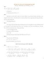 đề thi toán vào lớp 10 Hn từ năm 1988-2013