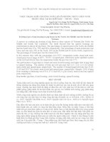 THỰC TRẠNG KIỂU CHUỒNG NUÔI LỢN Ở PHƯƠNG THỨC CHĂN NUÔI TRANG TRẠI TẠI BA MIỀN BẮC – TRUNG - NAM