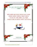 ĐỔI MỚI PHƯƠNG PHÁP DẠY HỌC  PHÂN MÔN TIẾNG VIỆT LỚP 4  TUẦN 29  CHI TIẾT, CỤ THỂ    THEO CHUẨN KIẾN THỨC KĨ NĂNG.