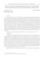 Những hạn chế trong phương pháp dạy và học môn viết tại khoa ngoại ngữ trường Đại học Mở TP. Hồ Chí Minh