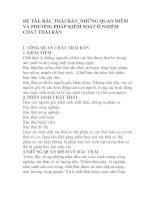 QUẢN LÝ CHẤT THẢI-ĐỀ TÀI- RÁC THẢI RẮN-NHỮNG QUAN ĐIỂM VÀ PHƯƠNG PHÁP KIỂM SOÁT Ô NHIỄM CHẤT THẢI RẮN