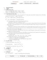 Chương 3  AMIN – AMINOAXIT – PROTEIN