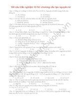 100 câu hỏi trắc nghiệm lớp 10 nâng cao chương cấu tạo nguyên tử