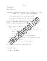 luận văn lưu trữ học Tìm hiểu về công tác đăng ký Hộ tịch của phòng Tư pháp quận Cầu Giấy