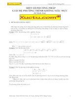 Một số phương pháp giải hệ phương trình không mẫu mực