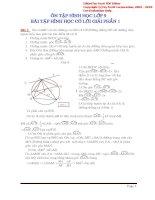 bài tập hình học ôn thi vào lớp 10 có lời giải