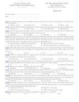 Đề thi thử ĐH lần 1 - 2010-1022